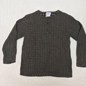 C de C checkered french collar shirt, size 8